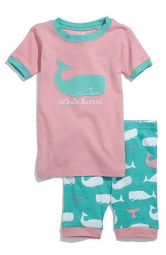 Hatley 'Whale Rested' Two Piece Fitted Pajamas