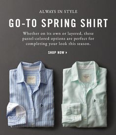 77c0fc7286a2 Go-To Spring Shirt - Shop All Shirts 3.16 a f