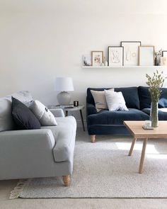 """sofa.com on Instagram: """"Aaannnnd Relax! @theharboroughhome has created an effortlessly stylish living room with our Isla sofa in subtle blue and grey tones.…"""""""