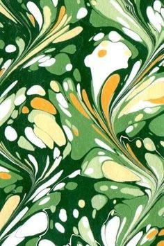 Marbled paper by Ann Muir. No. 18