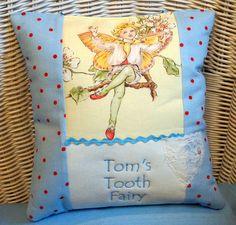 Tooth Keeper/Fairy cushion for a little boy!