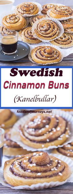 An authentic Swedish treat that you can easily make at home! Swedish Cinnamon Buns (Kanelbullar) are great for breakfast, snack or dessert! Köstliche Desserts, Delicious Desserts, Dessert Recipes, Yummy Food, Tasty, Swedish Recipes, Sweet Recipes, Swedish Foods, Gourmet