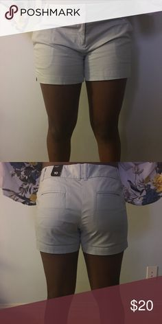 Sky blue shorts The Limited shorts. With small side splits on thigh. front zip with double button. front slanted slit pockets rear slit pockets. Sky blue brand new with tags. Size 10 The Limited Shorts