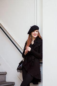 Outfit   Almost All Black - Retro Sonja Fashion Blogger - With @puppafashion cardigan - www.retrosonja.com