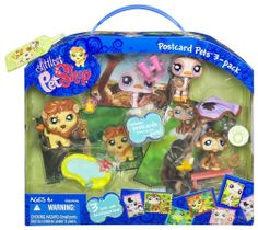Amazon.com : Littlest Pet Shop Ultimate Postcard Pet Set 3 Pack - Safari : Lps Lion : Toys & Games