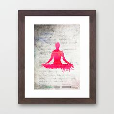 RockStarYoga Framed Art Print by Pranatheory