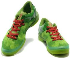 http://www.asneakers4u.com Nike Kobe 8 System Basketball Shoe Christmas Green/Black/Red
