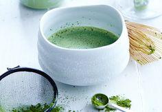 Grönt matcha-te, dryck