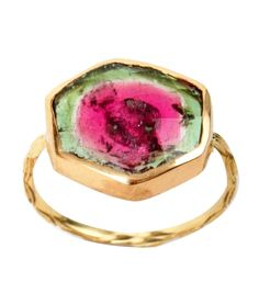 Watermelon Tourmaline Ambro Ring by Digby + Iona