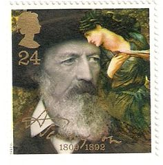 Resultado de imagem para selo de Alfred Tennyson