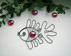 Dekorácie - rybka červená - 4507701_