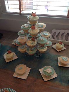 Leuke babyshower cupcakes
