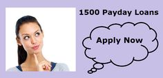 On line lenders specialize in providing short term loans like 1500 payday Loans and nearly any other short term loan scheme you can think of. These are made up specifically for the benefit of borrowers who are facing financial crisis and would like some quick help.