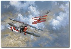 AVIATION ART HANGAR - Last Combat of the Red Baron by Frank Wootton