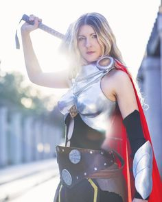 Happy Monday.  For anyone that doesn't  know you can see more photos and my progress on new cosplays on my Facebook page: http://ift.tt/23oFtWC  Photo by @ngophotosplease  #cosplay #cosplayer #cosplaying #thor #marvel #marvelcosplay #thorcosplay #avengers #armor #armorcosplay #helmet #blond #selfmadecosplay #selfmade #sunset #comics #comiccosplay #ladythor by devilzsmile.com #devilzsmile