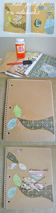 Linda shows you how to make a DIY notebook by using Mod Podge and your favorite papers - this is the perfect budget craft idea!