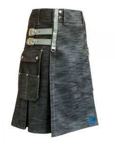 Sturdy Kilt Stylish Men's Denim Utility This utility kilt is crafted with sturdy denim to make this kilt a perfect choice for tough work. The rugged design of the utility denim kilt for stylish men.Above all you can Get your this favorite according to you desire Customization,Just visit our website choose your measurements.in few days Kilt will be at your doorstep.Scottish Kilt deliver it products worldwide.   #Kilts,#Kilts For Men,#Scottish Kilt,