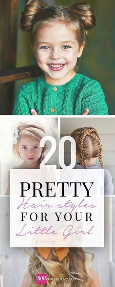 20 Pretty Hairstyles for Your Little Girl | momooze.com