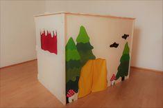 Das Haus kann nach Belieben bemalt werden. Flag, Country, Art, Indoor Playhouse, Wooden Playhouse, Kids, Art Background, Rural Area, Kunst