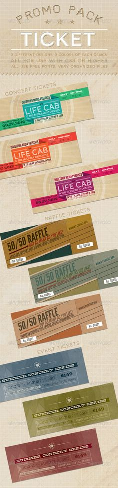 Concert \ Event Tickets\/Passes - Version 2 Event ticket, Print - dinner tickets template