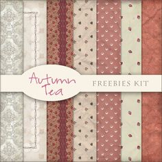 Freebies Kit of Backgrounds - Autumn Tea:Far Far Hill - Free database of digital illustrations and papers