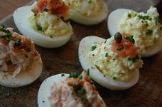 salmon deviled egg