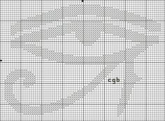 Free Ancient Symbols Cross Stitch Charts: Free Eye of Ra / Udjat Symbol Cross Stitch Pattern
