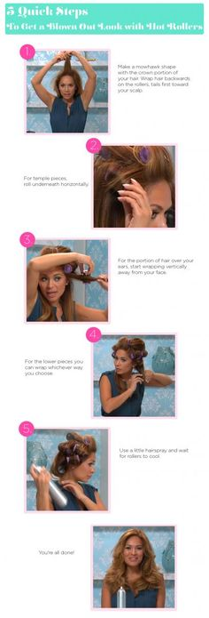 5 Quick Steps to Get a Blown Out Look with Hot Rollers