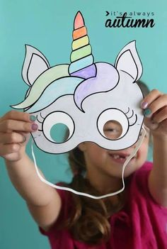 Ready to Ship Unicorn Pinata with Pink Bow Gold Ear Unicorn Pinata, Unicorn Mask, Unicorn Kids, Unicorn Crafts, Unicorn Party, Fun Arts And Crafts, Crafts For Kids To Make, Crafts For Girls, Unicorn Themed Birthday Party