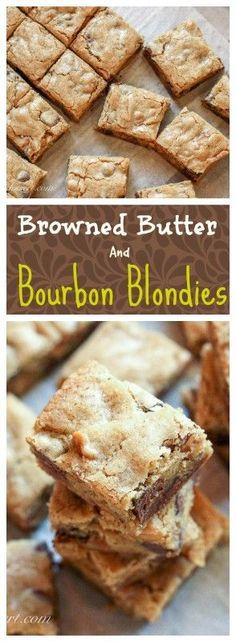 Browned Butter & Bourbon Blondies