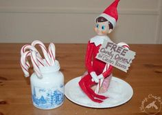 free candy canes elf on the shelf