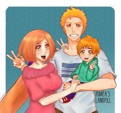 "rimea: "" ""Kurosaki family (❤ω❤) "" Still can't believe that my babies are…"