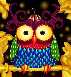 'Golden Owl' by Violeta Metalico