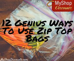 They're great for food storage and packing snacks on the go, but there's so much more ziplock bags can do for you! Read these genius uses for zip top bags!