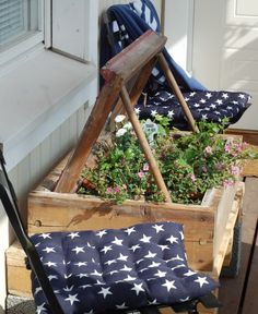 DIY Vanhasta ikkunankarmista kukkalaatikko - VaniljaHouse - CASA Blogit