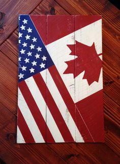 American and Canadian Flag/Flag combo by XOXOalwaysdesigns on Etsy