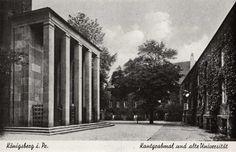 https://flic.kr/p/65wvDJ | 071 Königsberg - Kantgrabmal | Das Ehrenmal für Immanuel Kant und die Alte Universität auf dem Kneiphof in Königsberg. Die Säulenhalle wurde 1924 von dem Architekten und Bildhauer Friedrich Lahrs geschaffen. Ansichtskarte 30er Jahre.