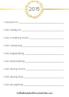 Are you inspired to make changes in 2015 too? Check out the printable I created for you to help you stay focused in 2015.