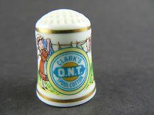 Franklin Mint Thimble Advertising Porcelain clark's o.n.t. Spool Cotton (w4-4)