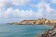Paleochora - a coastal town, one of the greatest summer resorts of Chania, with about residents. It is built on a long, narrow peninsula that protrudes into the Libyan Sea. Seaside Towns, Greek Islands, Greece Travel, Crete Chania, Coastal, City, Resorts, Beach, Places