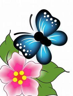 Star Painting, One Stroke Painting, Cartoon Drawings, Art Drawings, Flower Art Drawing, Butterfly Art, Butterflies, Rock Art, Art Forms