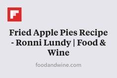 Fried Apple Pies Recipe - Ronni Lundy | Food & Wine http://flip.it/DwQ6D