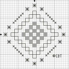 Free Hardanger Patterns - For Beginners and Beyond: Free Hardanger Steps and Stars Pattern - Free Printable Hardanger Chart