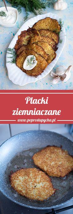 Placki Ziemniaczane Na Patelni Szukaj W Google Vegetable Recipes Easy Cooking Food