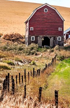 Country Living ~ barn out in the open.