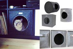 Katzenhähle, Katzenbett handmade von Stich-haltig