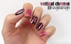 [Tutorial] Nageldesign: vertical chevron
