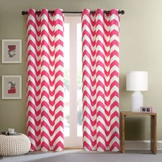Intelligent Design Virgo Pink Chevron Window Curtain Panel (Set of 2) - Overstock Shopping - Great Deals on ID-Intelligent Designs Curtains