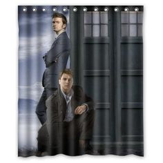 Maybe the only way I'll ever get two really good look'n guys in the shower with me! lol-  Custom Home Decor Bath Curtain The Classical Scientific TV Series Doctor Who And Police Box 100% Polyester Shower Curtain 60 x 72 inches High quality Waterproof Shower curtain Custom Shower Curtain http://www.amazon.com/dp/B00MSKUKZU/ref=cm_sw_r_pi_dp_Mk0eub1MNFGKY