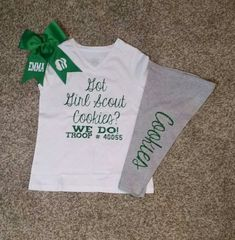 Girl Scout Outfit with bow